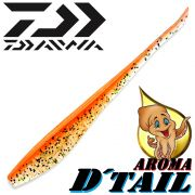 Daiwa Tournament D-Tail Pintail-Shad 4 - 10,2cm Farbe Orange Shiner mit Tintenfischaroma No-Action-Shad für Barsch&Zander