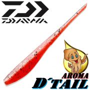 Daiwa Tournament D-Tail Pintail-Shad 4 - 10,2cm Farbe Red Shiner mit Tintenfischaroma No-Action-Shad für Barsch&Zander