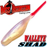 Bass Assassin Walley Shad 3 Inch Pin-Tailshad ca. 7,5cm Farbe Albino Fire Tail 10 Stück im Set Zanderköder