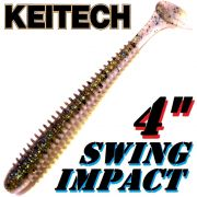 Keitech Swing Impact 4 Gummifisch 10 cm Bluegill Flash 8 Stück