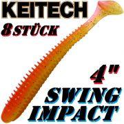 Keitech Swing Impact 4 Gummifisch 10cm Orange Shiner 8 Stück
