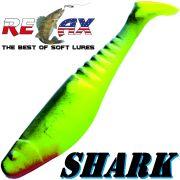 Relax Shark Gummifisch 4 10cm Fluogelb Schwarz