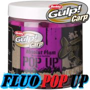 Berkley Gulp! Carp Fluo Pop Ups 100g 16mm Absolute Plum Karpfenköder Floating Boilie