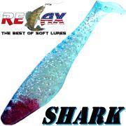 Relax Shark Gummifisch 4 10cm Kristall Glitter Blau