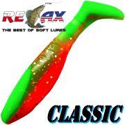 Relax Kopyto Classic 3 Gummifisch 8cm Lime Orange Glitter Softbait