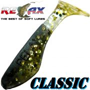Relax Kopyto Classic Gummifisch 3,5 cm Gold Glitter Schwarz