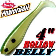 Berkley Hollow Belly Gummifisch Swimbait 10cm Tenesee Shad 3 Stück im Set