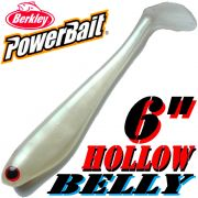 Berkley Hollow Belly Gummifisch Swimbait 15cm Pearl White 3 Stück im Set!