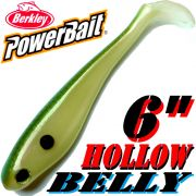 Berkley Hollow Belly Gummifisch Swimbait 15cm Tennessee Shad 3 Stück im Set!