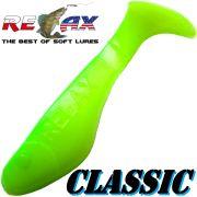Relax Kopyto Classic Gummifisch 3,5 cm Fluogelb Grün