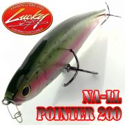 Lucky Craft NA-LL Pointer 200 Wobbler Jerkbait 200mm 69g Laser Rainbow Trout