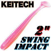 Keitech Swing Impact 2 Gummifisch 5,5cm Bubblegum 12 Stück