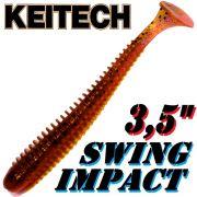 Keitech Swing Impact 3,5 Gummifisch 8,5cm Red Crawdad 8 Stück