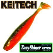 Keitech Easy Shiner 4 Gummifisch Fire Tiger 7 Stück im Set aromatisiert und gesalzen