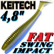 Keitech Fat Swing Impact 4,8 Gummifisch Tennessee Shad 5 Stück im Set gesalzen & aromatisiert!