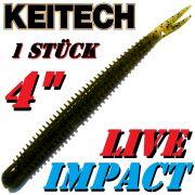 Keitech Live Impact 4 V-Tail Shad Gummiköder Watermelon PP. 10 Stück im Set aromatisiert und gesalzen