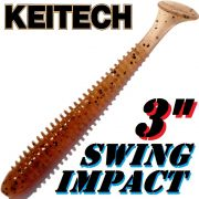Keitech Swing Impact 3 Gummifisch 7,5cm Sakura PP. 10 Stück