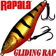 Rapala Glidin Rap Jerkbait 12cm 50g Banded Green slow sinking VMC Hooks