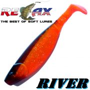 Relax Kopyto River 16,0 cm Clear Orange Glitter Schwarz
