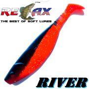 Relax Kopyto River 16,0 cm Orange Glitter Schwarz