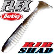 Berkley Flex Rib Shad 3,5 9cm Gummifisch Smelt 1 Stück