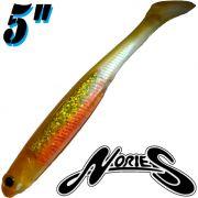 Nories Spoontail Shad 5 Gummifisch Albino Orange 5 Stück