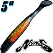 Nories Spoontail Shad 5 Gummifisch Smoke Orange 5 Stück