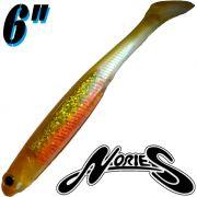 Nories Spoontail Shad 6 Gummifisch Albino Orange 5 Stück
