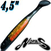 Nories Spoontail Shad 4,5 114mm Gummifisch Smoke Orange 6 Stk.