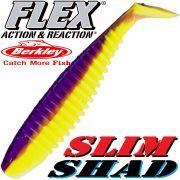 Berkley Flex Slim Shad 6 Gummifisch 15cm Purple Chartreuse