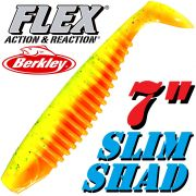 Berkley Flex Slim Shad 7 Gummifisch 18cm Firetiger