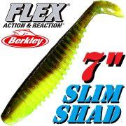 Berkley Flex Slim Shad 7 Gummifisch 18cm Breen Chartreuse