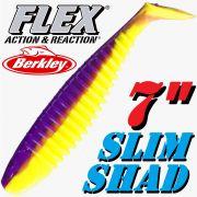 Berkley Flex Slim Shad 7 Gummifisch 18cm Purple Chartreuse