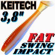 Keitech Fat Swing Impact 3,8 Gummifisch 9cm Wakasagi 6 Stück gesalzen & aromatisiert
