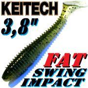 Keitech Fat Swing Impact 3,8 Gummifisch 9cm Watermelon PP. Shad 6 Stück gesalzen & aromatisiert