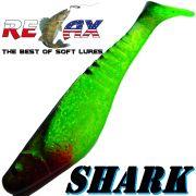 Relax Shark Gummifisch 4 10cm Grün Glitter Schwarz