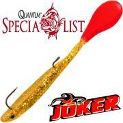 Quantum Specialist Joker M Soft Lure Gummifisch 12cm 4g Red Rooster 3 Stück im Set