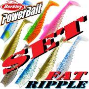 Berkley Power Bait Fat Ripple Shad Gummifisch Set 4 10cm 8 Farben je 1 Stück = 8 Stück im Set!