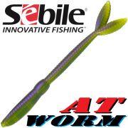 Sebile AT Worm Sinking Gummiwurm 178mm 15g Farbe SP65 6 Stück im Set All Terrain Köder