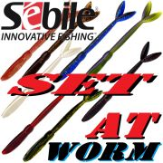 Sebile AT Worm Sinking Gummiwurm-Set 178mm 15g 8 Farben je 3 Stück = 24 Stück im Set TESTKID