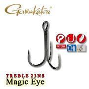 Gamakatsu Magic Eye Treble 23NS Drillingshaken Größe 5/0 Strong 5 Stück im Set für große Wobbler & Jerks