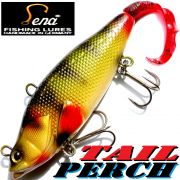 Lena Lures Tail Perch 110mm 40g Farbe Natural Green Slow Sinking 100% Handmade in Germany