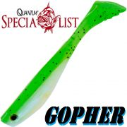 Quantum Specialist Gopher Soft Lure Gummifisch 9cm Farbe Kiwi 1 Stück