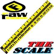 RawFinesse The Scale Measuring Tool Maßband 20cmX145cm in Zentimeterschritten Farbe Catch&Release