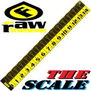 RawFinesse The Scale Measuring Tool Maßband 20cmX145cm in Zentimeterschritten Farbe Black-Yellow