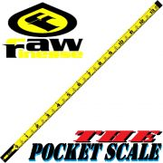 RawFinesse The Pocket Scale Measuring Tool Maßband 5cmX151cm in Zentimeterschritten Farbe Yellow
