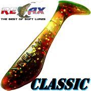 Relax Kopyto Classic Gummifisch 3,5 cm Motoroil Glitter
