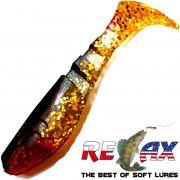 Relax Kopyto Classic Gummifisch 5,0 cm Gold Glitter Schwarz