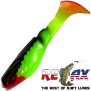 Relax Kopyto Classic 3 Gummifisch 8cm Lime Schwarz Softbait