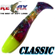 Relax Kopyto Classic 3 Gummifisch 8cm Electric Fluogelb Head Softbait